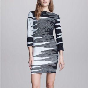 Diane Von Furstenberg Ruri Flame Print Dress 6